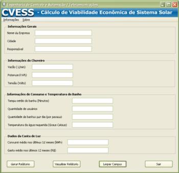 CVESS – Cálculo de viabilidade econômica de um sistema solar