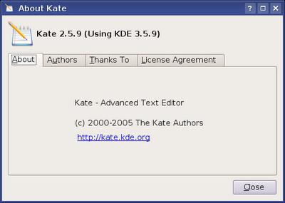Definindo codificação default do KATE